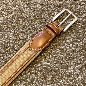 Allen Edmonds Leather & Canvas Belt